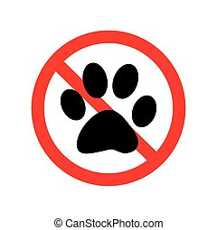No Animal Paw Sign