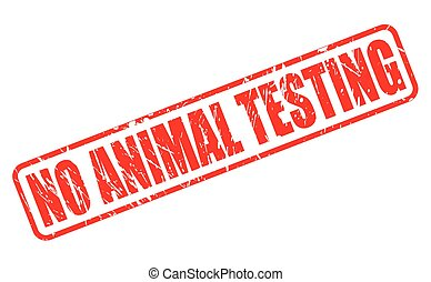 NO ANIMAL TESTING red stamp text