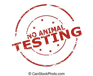 No animal testing - Rubber stamp with text no animal testing...