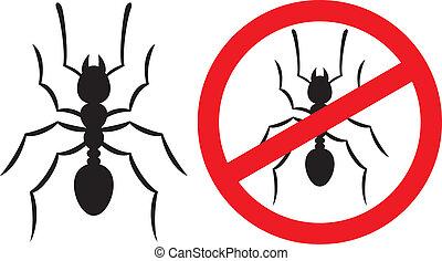 no ants sign (no ants symbol)