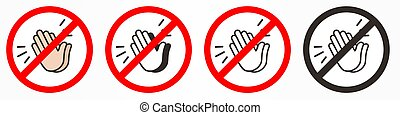 No applause vector icon. Flat No applause symbol is isolated on a white background.
