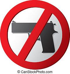 no, arma de fuego, señal