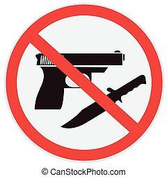 no, arma, permitido