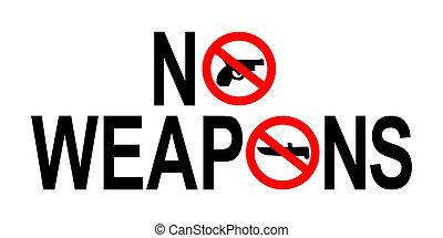 no, armas, señal