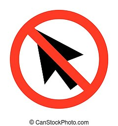 No Arrow sign illustration.