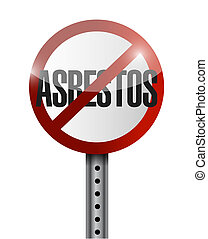 no asbestos sign illustration design