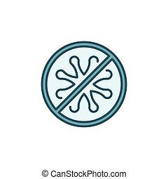 No Bacteria vector concept colored icon or sign
