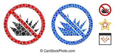 No Bang Mosaic Icon of Circle Dots
