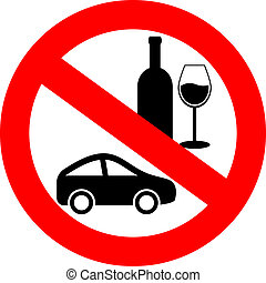 no, beba y conduzca
