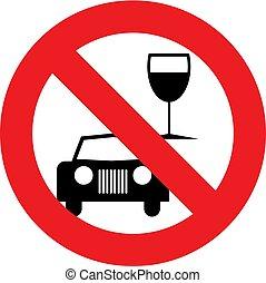 no, beba y conduzca, símbolo