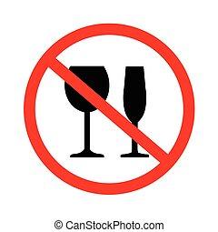 no, bebida, alcohol, señal