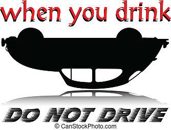 no, bebida, ilustración