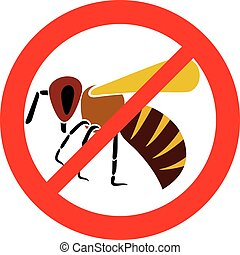 no bee sign