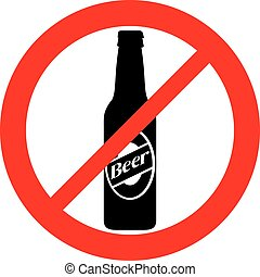no beer bottle sign (prohibition icon, not allowed symbol)