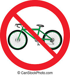 No bicycle sign icon