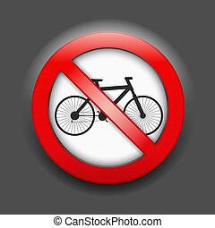 No Bicycle Sign