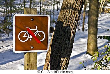 No Bike Riding in the Snow