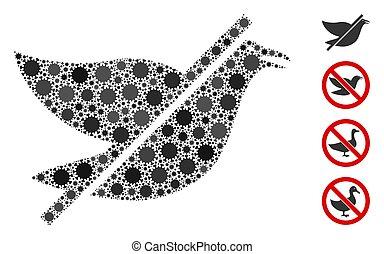No Bird Mosaic of Corona Virus Items