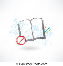 No book grunge icon