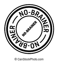 no brainer rubber stamp