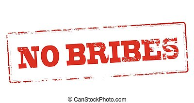 No bribes - Rubber stamp with text no bribes inside, vector...