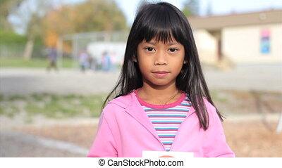 No Bullying-Smiling Asian Girl