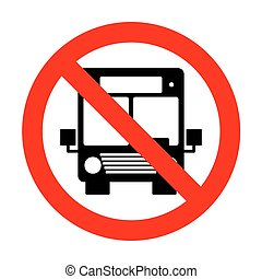 No Bus sign illustration.
