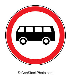 no bus sign