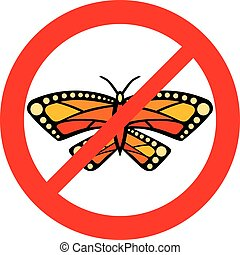 No butterfly sign