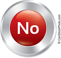 No button. Vector red round sticker.