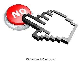 No button with hand cursor
