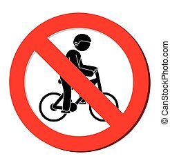 no bycicle prohibited sign vector illustration eps 10