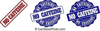 NO CAFFEINE Grunge Stamp Seals
