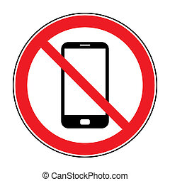 no call sign - No cell phone sign. Mobile phone ringer...