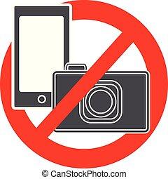 No camera and mobile phone symbol