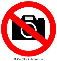No camera sign on white background