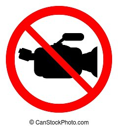 No camera sign. - No camera sign on white background. Vector...