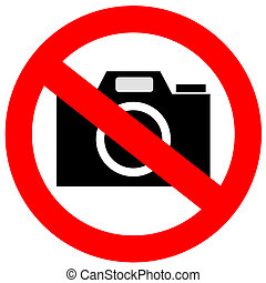 No camera sign on white background