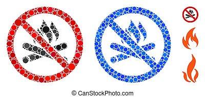 No Campfire Mosaic Icon of Circle Dots