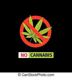 No Cannabis sign