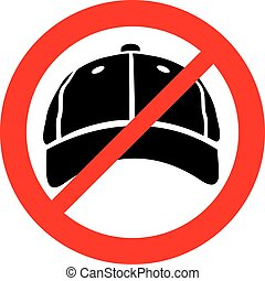 no cap sign (prohibition icon, not allowed symbol)