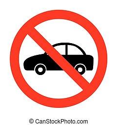 No Car sign illustration.
