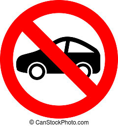 No car vector sign isolated on white