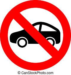 No car vector sign