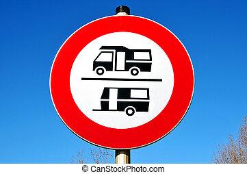 no caravans sign
