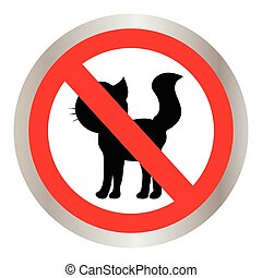 No cats sign, do not allowed