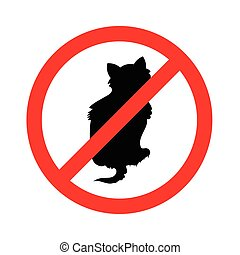 No cats sign, do not allowed on whi