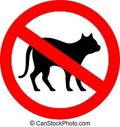 No cats vector sign
