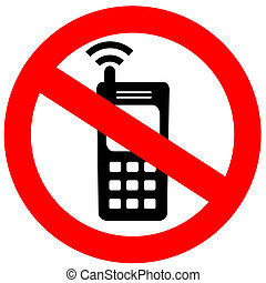 No cell phone sign illustration