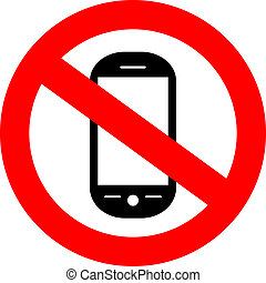 No cellphone sign - No cellphone vector sign